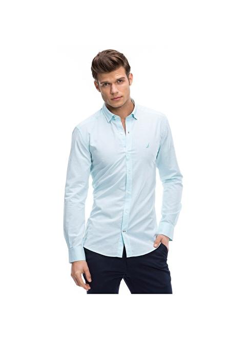 Nautica Slim Fit Uzun Kollu Gömlek Renkli